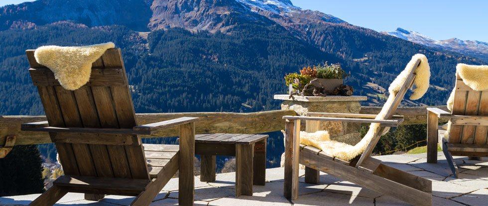 Ferienhaus mit Aussicht auf die Berge