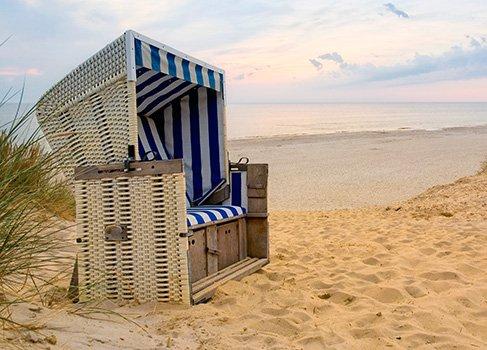 Liegestuhl auf der Insel Sylt