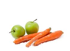 Karotte und Apfel