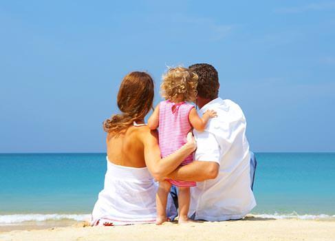 Familie am Meer