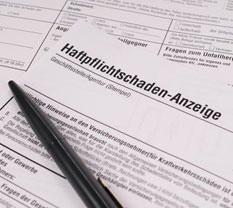 Formular für Haftpflichtschäden