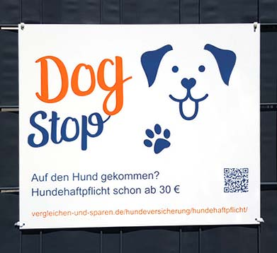 Schild Dog Stop
