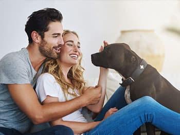 Paar mit Hund