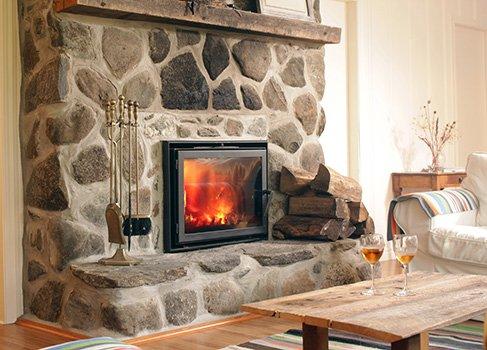 Einrichtung - Wohnzimmer mit Kamin