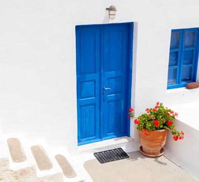 Terasse in Griechenland